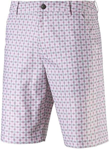 pink 'PLAID' golf SHORT - MEN / SS20