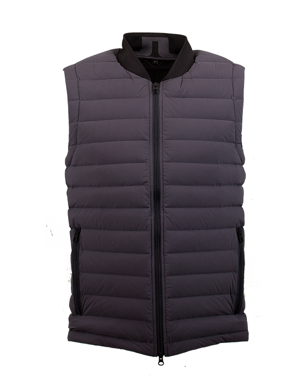 Grey 'Ease' Golf Vest - MEN / AW19