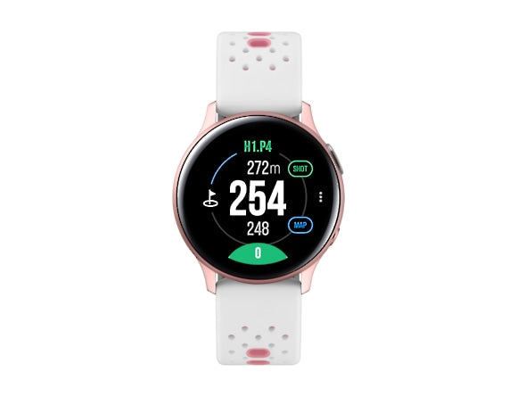 Pink/Gold 'Active 2' Golf Edition with Silicone Strap (40 mm) - 2021