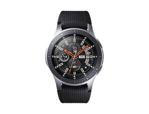 Silver & Black 'Galaxy Watch' Golf Edition with Silicone Strap (46 mm) - 2020