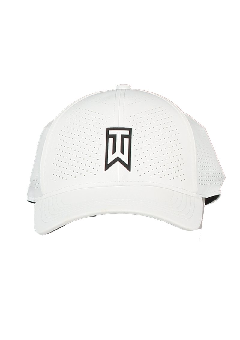 White 'AeroBill' Tiger Woods  Fitted Heritage86 Golf Cap - MEN'S / 2021