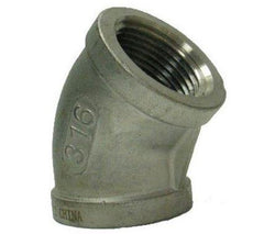 Coude 45° Stainless Light 150PSI FPT