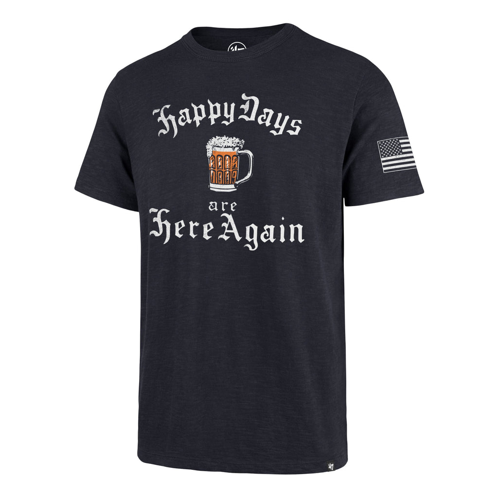 Americana HAPPY DAYS ARE HERE AGAIN TWO PEAT '47 SCRUM TEE