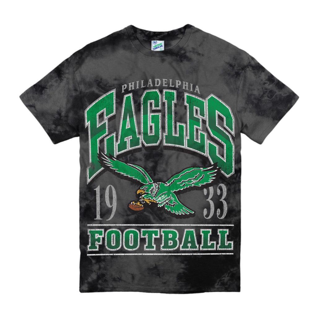 PHILADELPHIA EAGLES DARK STREAKER '47 VINTAGE TUBULAR TEE