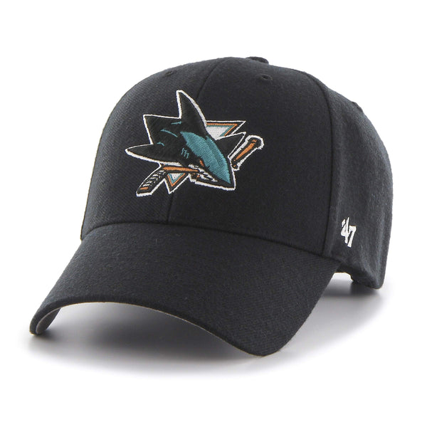 47brand San Jose Sharks Mvp Curved Adjustable Cap Eishockey