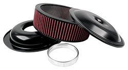 "Allstar* 14"" Aluminum Air Cleaner Kits w/ Washable Element"