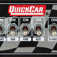 Copy of Quickcar Weatherproof Ignition Control Panels With Three Accessory Switches Flag Panel