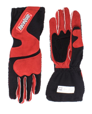 Racequip 356 Series SFI3.3/5 2 Layer Outseam Gloves With Cuff