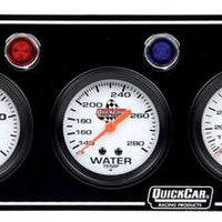 Quickcar 3 gauge Panel (checker flag or black)