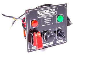 Quick Car Ignition Control Panel With Flip Switch Ignition Cover and Single Accessory Switch (checker flag or black)