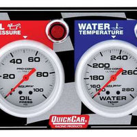 QuickCar 2 Gauge Panel - OP/WT ( checker flag or black)