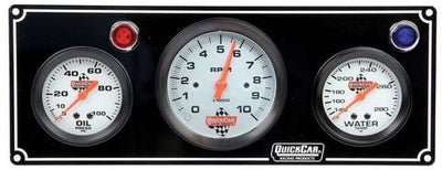 Quickcar 2 Gauge Panel with 3 3/8