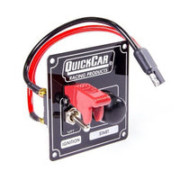 Quickcar Ignition control panel and starter button with flip switch cover (also available in black)