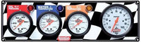 "Quickcar 3 Gauge Panel with 3 1/8"" Tachometer ( checker flag or black)"