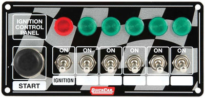 Ignition Panel with 6 Toggles and Lights