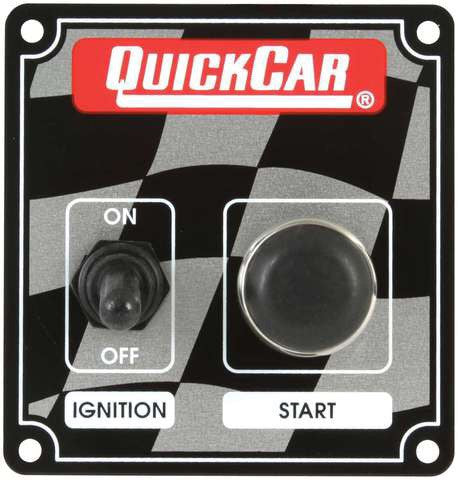 Quickcar Ignition control panel with starter button (also available in black)