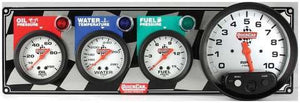 "Quickcar 3 Gauge Panel with 5"" Tachometer (checker flag or black)"