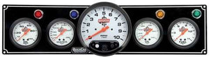 "Quickcar 4 Gauge Panel wit 5"" Tachometer (checker flag or black)"