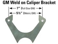 Brake Caliper Brackets -Weld on and Caliper Bolts