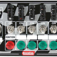 Quickcar Ignition Panel Starter Button 6 Toggles Fused with Lights