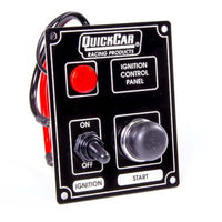 Quickcar Ignition controle panel and starter button with light (checker flag or black)