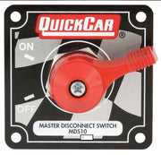 Quickcar Master Disconnect Switch With Mounting Plate (checker flag, black or silver)
