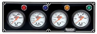 Quickcar 4 gauge panel (checker flag or black)