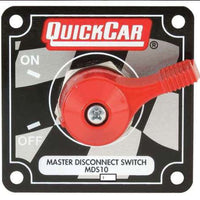 Quickcar Master Disconnect With Mounting Panel For Cars With Altenators (checker flag, black, or silver)
