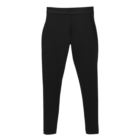 Black Legging with Elastic Logo Waistband