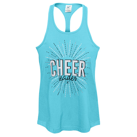 Tropical Blue Cheerleader Racer Tank