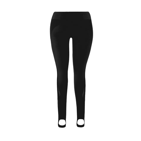 Black Power Mesh Stirrup Legging
