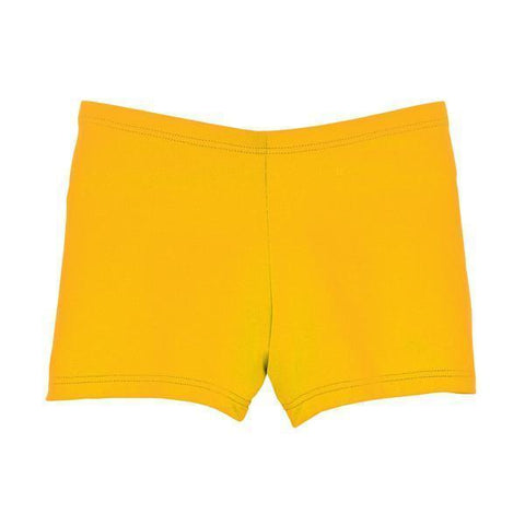 Bright Gold Spirit Stretch Boy-Cut Cheer Brief