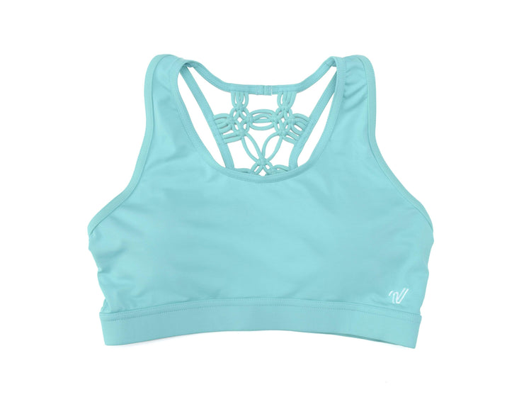 Macramé Racer Back Sports Bra
