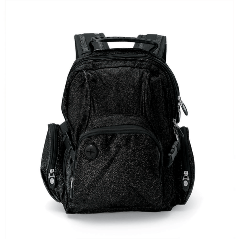 Mini Glitter Backpack Black MSBPQ