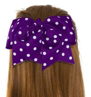 Purple Polka Dot Bow