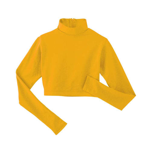 Spirit Stretch Mock Neck Midriff YXS / Bright Gold SSM15