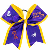 "St. Jude ""Never Give Up"" Sublimated Bow V14SUSBW01"
