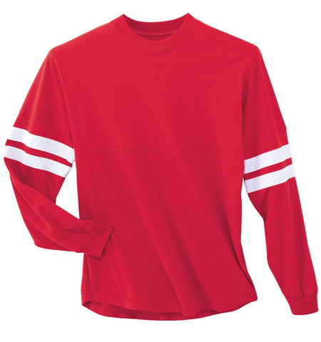 Striped Team Tee XS / Scarlet SPTS