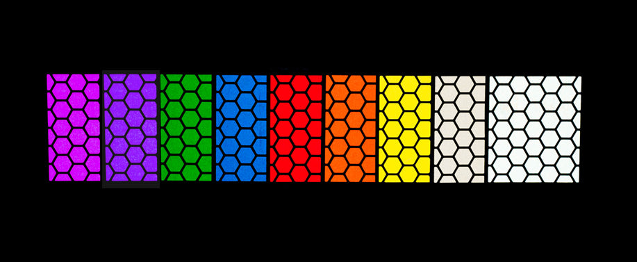 RydeSafe Reflective Hexagon Stickers - color options