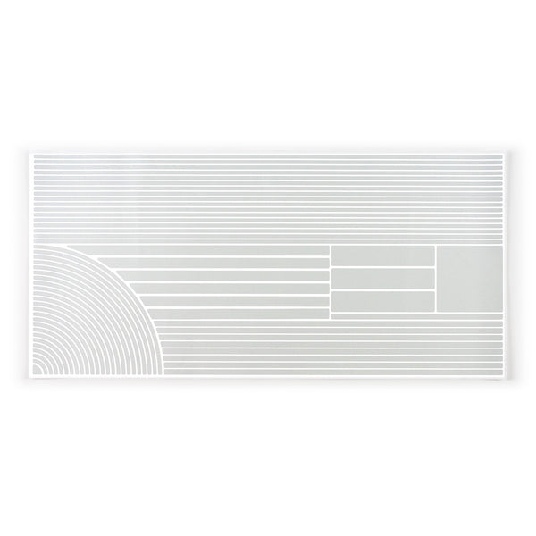 RydeSafe Reflective multi stripe Stickers - XL - white