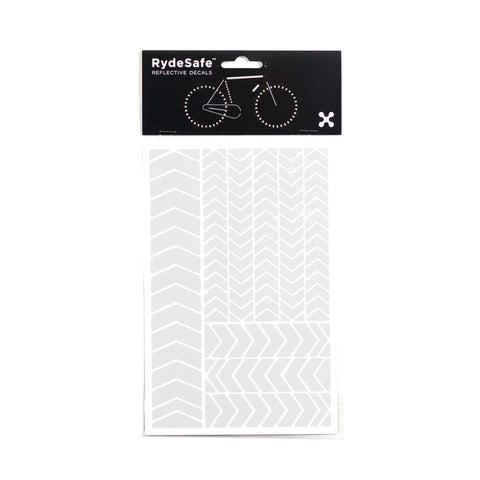RydeSafe Reflective Chevron Stickers - white