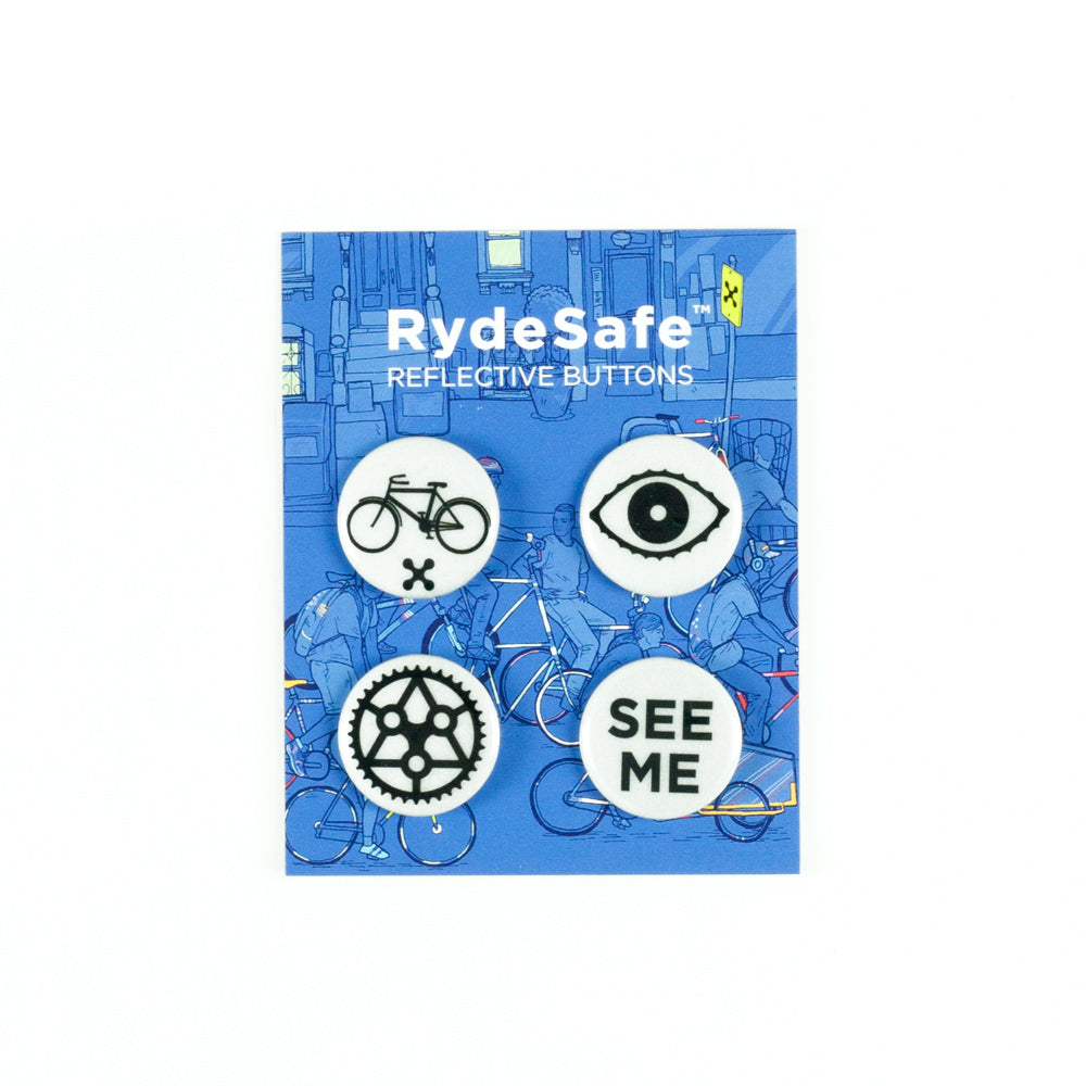 RydeSafe Reflective Buttons For Bike Safety