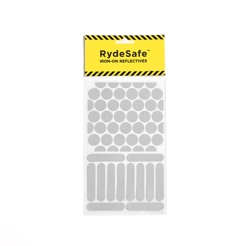 RydeSafe reflective iron-on decals made with 3M heat-applied transfer tape
