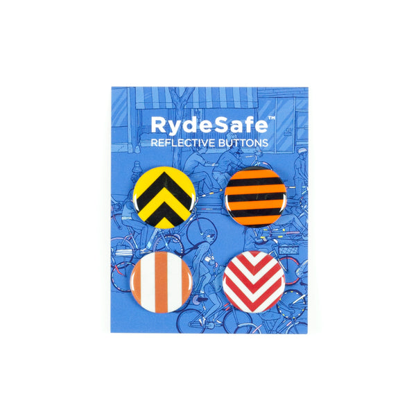 RydeSafe Reflective Buttons Kits - Road Sign Theme (4 PACK)