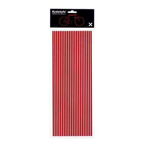 RydeSafe Reflective pinstripes Stickers - jumbo - red