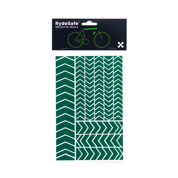 RydeSafe Reflective Chevron Stickers - green
