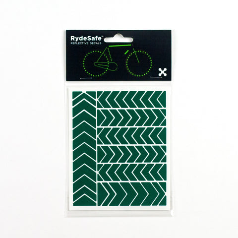 RydeSafe Reflective Decals - Chevron Kit - Small (Green)