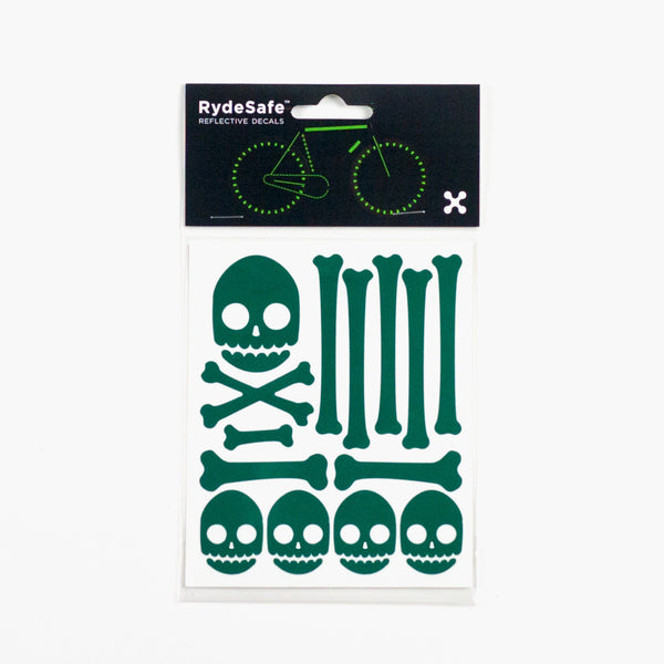 RydeSafe Reflective Stickers | Skull and Bones Kit