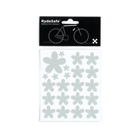 RydeSafe Reflective Decals - Flowers Kit (white)