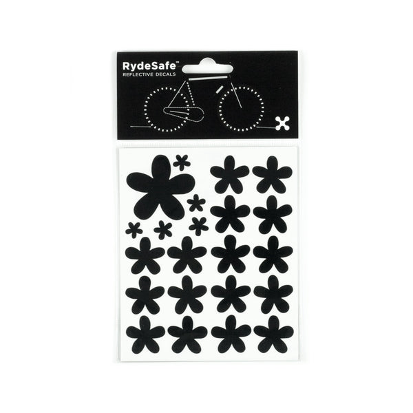 RydeSafe Reflective Decals - Flowers Kit (black)